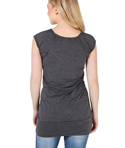 KRISP® Umstandsmode Damen Shirt Anthrazit (7604)