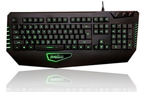 Perixx PX-1800 - Teclado gaming USB retroiluminado, 19 teclas anti-fantasma, Español QWERTY, negro