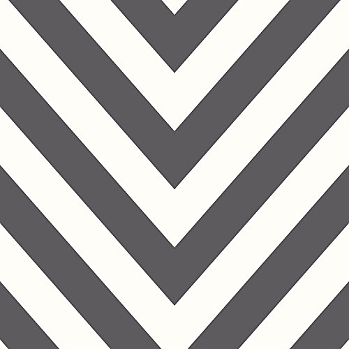 Und Tapeten Schwarz Chevron Weiß (Chevron Zig Zag Tapete geometrische Modern Gestreift Bold 5Farben erhältlich schwarz / weiß)