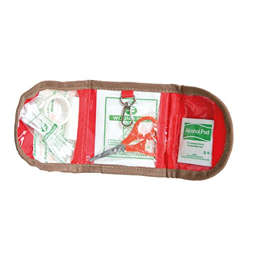 Mini Erste Hilfe Set - paßt in jede Tasche, 9,5 x 11,5 cm, Outdoor First Aid