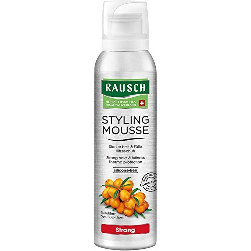 Rausch Styling Mousse Strong Aerosol (verleiht dem Haar Sprungkraft, intensives Volumen und Halt - Vegan), 1er Pack (1 x 150 ml)