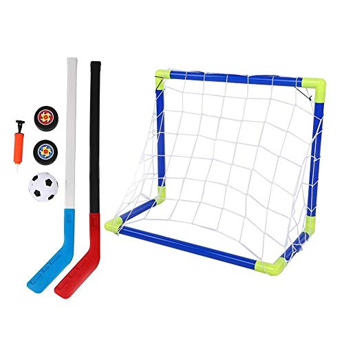 Broco 2 in 1 Outdoor Sport Kinder Fußball Eishockey Tor Kit mit Kugeln Pump Kid Training Spielzeug