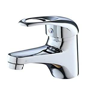 ERIDANUS Bathroom Vanity Faucet with Single Handle Sink Mixer Tap for Lavatory Bathroom Vanity Sink Faucet, Polished Chrome