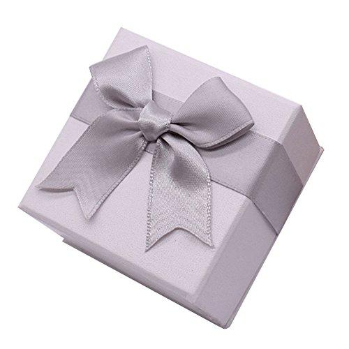 Milopon Ring Box Ringkästchen Geschenkbox für Hochzeit, Valentinstag Ring Ohrring Geschenk Storage Box Etui (Beige) (Ohrring-etui)