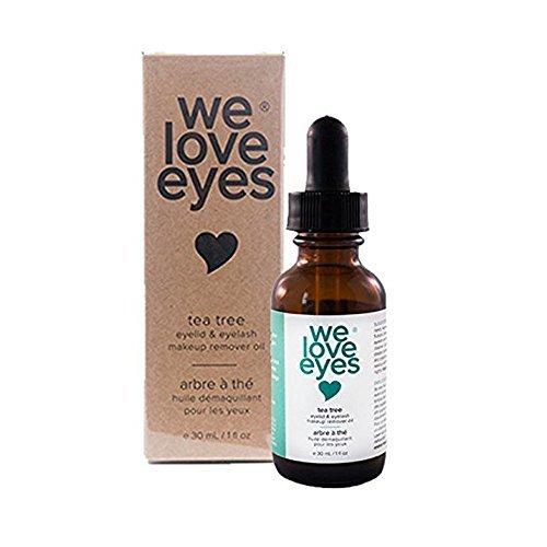 We Love Eyes alle natürlichen Teebaum Augen Make-up Entferner Öl - chemische und alkoholfreie - 30ml (Wasserfeste Zutaten Mascara)