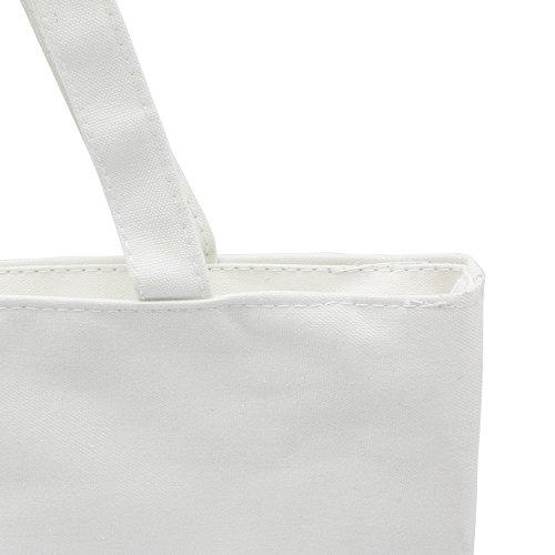 ZENTEII Frauen Leinen Handtasche Weiß