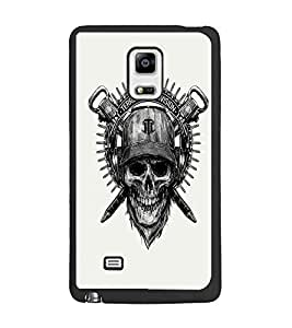 PrintDhaba Skull Designer D-1205 Back Case Cover for SAMSUNG GALAXY NOTE EDGE (Multi-Coloured)