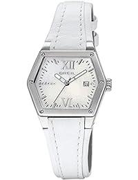 Breil Damen-Armbanduhr Analog Leder weiss TW0661