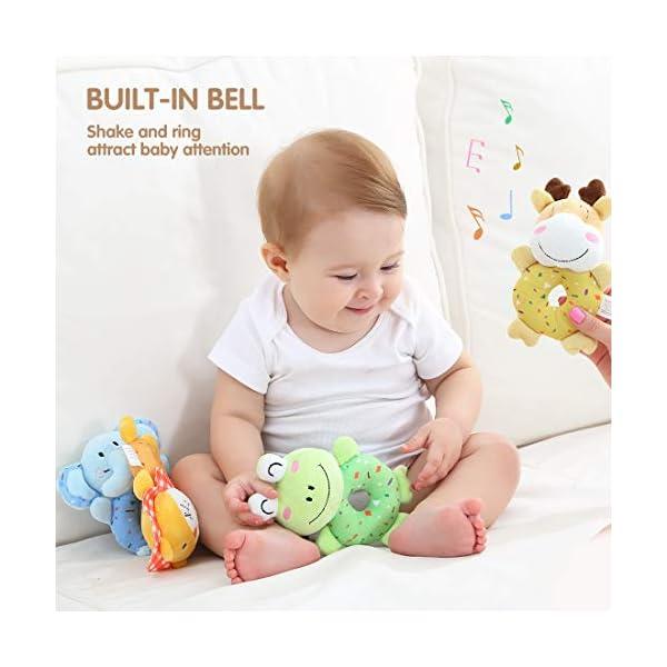 tumama Plush Baby Soft Rattles Newborn Baby Toys 0-12 Months Gift Set 4PCS 3
