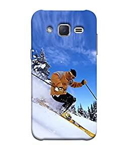 PrintVisa Designer Back Case Cover for Samsung Galaxy J2 (ice skating for adventurous people)