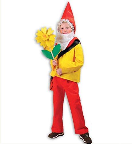 KarnevalsTeufel Kinderkostüm Zwerg Purzelbaum Zwergenkostüm, Kinderzwerg, Gartenzwerg, Zwerg, Gnom (140) (7 Zwerge Kostüm Für Kleinkind)