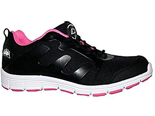 Groundwork - Scarpe da Tennis di Sicurezza Donna, (Black/Pink), 38.5