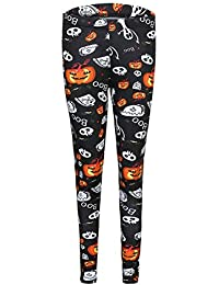 Polainas de Halloween Pumpkin Print Leggings Stretch Fitness Pants Pantalones