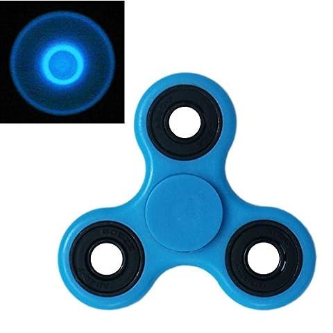 WWZ Hand Spinner Tri-Spinner Toy Stress Reducer Luminous Fidget Spinner