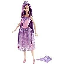 Mattel Barbie DKB59 - Modepuppe, Dreamtopia Zauberhaar Prinzessin, lila