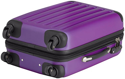 HAUPTSTADTKOFFER - Spree - 2er Koffer-Set Handgepäck Hartschale matt, TSA, 55 cm, 49 Liter, Gelb-Schwarz Lila/Lila