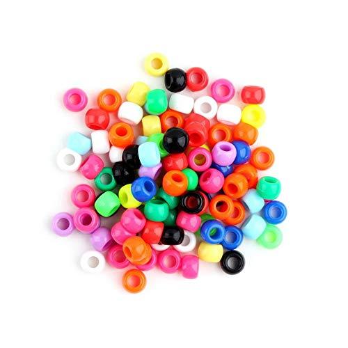mimagogy Mehrfarbige runde Alphabet-Buchstabe-Anhänger Pony-Perlen für Loom Bands Armband (Loom-band-alphabet Perlen)
