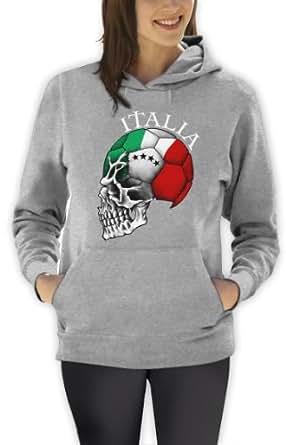 Italien Cooler Fanartikel Fußball EM 2016 Schädel Frauen Kapuzenpullover Hoodie