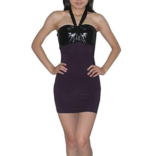 Sexy Me Femme Thai Exotic Sexy Stretchy Fit Clubwear Mini Dress purple
