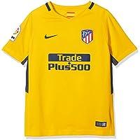 Nike ATM Y Nk BRT Stad JSY SS AW Camiseta de Manga Corta, niños, Amarillo (University Gold/Midnight Navy), XL