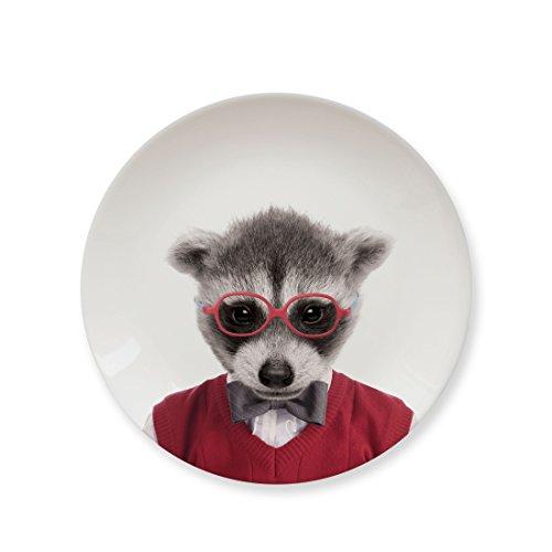 Mustard Kleiner Teller Keramik - Wild Dining Waschbär
