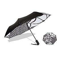 "UVDAY Auto Open Close UV Protection Travel Compact Folding Sun Umbrella UPF50+ 21"""