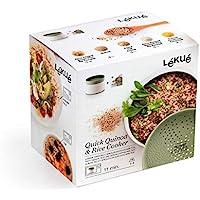 Lékué 200700 Recipiente para Cocinar Quínoa, Arroces Y Cereales, 1 Liter, plástico, Verde
