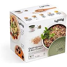 Lékué 200700 Recipiente para Cocinar Quínoa, Arroces Y Cereales, 1 Liter, ...