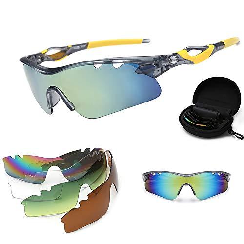 YJHW Herren Polarisierte Fahren Sonnenbrillen Sport im Freien Eyewear Unzerbrechlich Spring Scharnier Ultra-Light,3