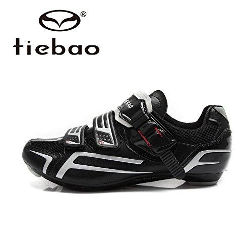 Cyclisme sur route ƒquitation Chaussures de vŽlo de vŽlo Chaussures de sport Sneakers Blanc noir