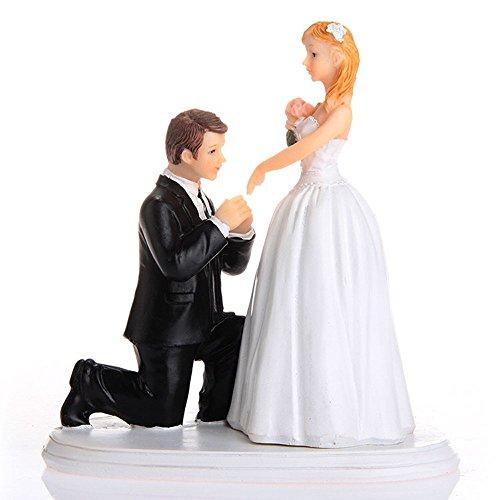 Hochzeitspaar aus hochwertigem Kunstharz, Braut und  Bräutigam, Hochzeitstorten-Dekoration, entzückende Figur, Melamin, 3* (Figur-dekoration)