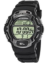 Calypso K5573/2 - Reloj de caballero de cuarzo, correa de plástico color negro