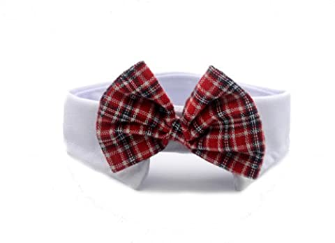 Namsan Dog Cats Puppy Pets Bow Tie Neck Tie Collar England Style 6 Colors -Red