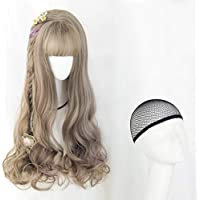 Fa Peluca- Fashion Fantasy Middle Parting Cabello Rizado Ondulado Largo Rizado, Peluca Rizada Big