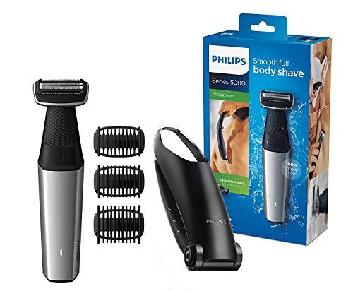 Philips bg5020/15 - rasoio bodygroom serie 5000 con testina per depilazione della schiena e 3 pettini