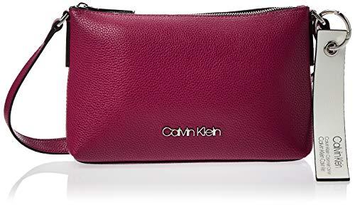 Calvin Klein Damen Neat Ew Crossbody Umhängetasche, Violett (Magenta), 5x15.5x25.5 cm