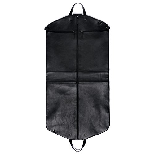 FEYNSINN Saco para ropa ARIK Cuero - Bolsa para traje negro