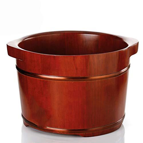 Fußbad Barrel Fußbad Wellness Massage Pediküre Barrel Gesundheitswesen Fußmassage Design Tragbare (Color : Brown, Size : 40 * 32 * 26cm)