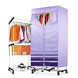 XAJGW Elektrischer Wäschetrockner drinnen umarmen Flug 2 Schichten schnell lufttrocknend heißer Wäscheständer Wäscheständer für Zuhause & Schlafsäle bis 15 kg Wäscherei 1000 Watt