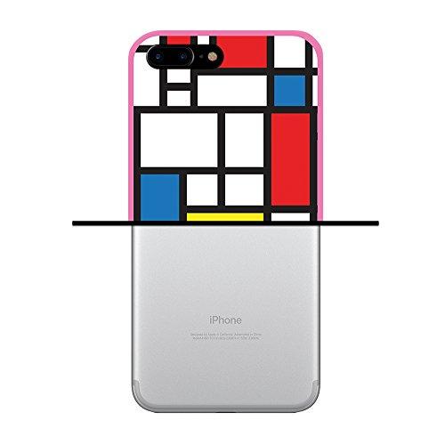 iPhone 7 Plus Hülle, WoowCase Handyhülle Silikon für [ iPhone 7 Plus ] Astronaut Gay Flagge Handytasche Handy Cover Case Schutzhülle Flexible TPU - Transparent Housse Gel iPhone 7 Plus Rosa D0009