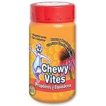 Chewy Vites Gominolas Masticables con Forma de Ositos Vegetarianas y Sin Gluten con Propóleos y Equinácea 60 unidades 150 g