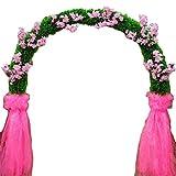 SUNNAIYUAN Decoration Fiore Artificiale Wedding Metallo Arch Pergola for Le Piante rampicanti 250cm Ampio e 240 Centimetri Alto (Color : A)