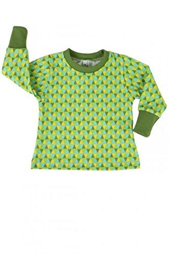 fashion4MINIS Baby-Langarmshirt (80, Dreiecke greenery)