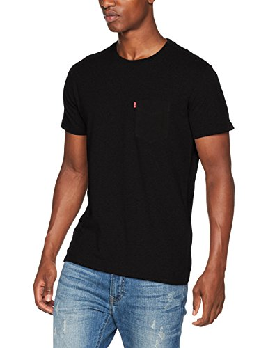 Levi's Ss Set-In Sunset Pocket, Camiseta para Hombre, Negro (Black 0011), XX-Large