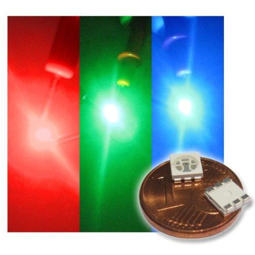 20 x SMD LED Bauart 5050 RGB 3-Chip mit 3 Farben