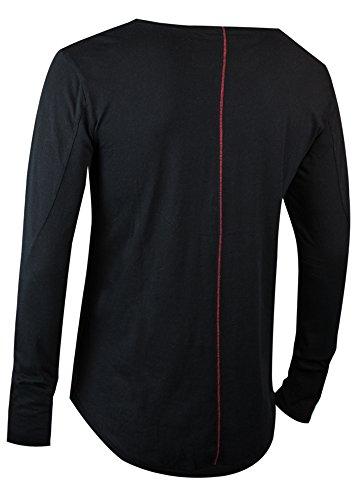 trueprodigy Casual Herren Marken Long Sleeve einfarbig Basic, Oberteil cool  und stylisch mit Rundhals ( 840728ed20