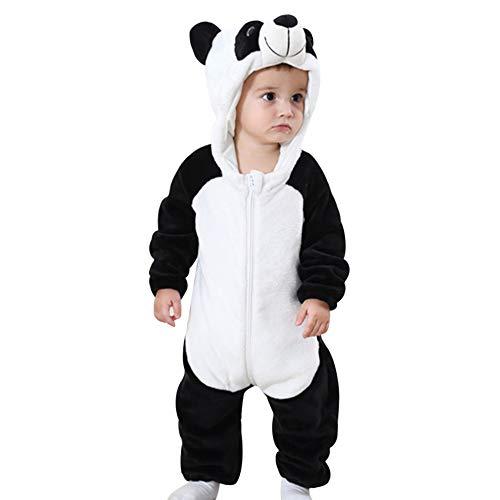 Decha Unisex Baby Kinder Pyjamas Tier Karneval Jumpsuit Overall Kostüm Cosplay Flanell Strampelanzug Schlafanzug Warm Winter