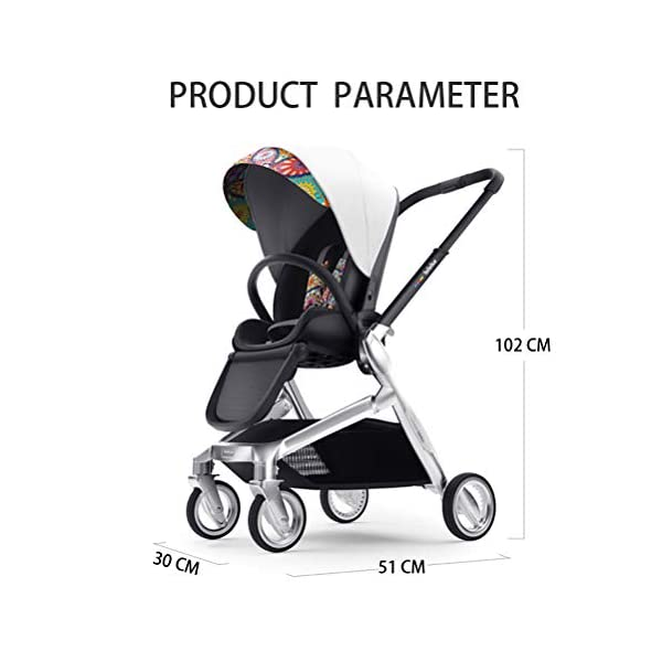 Lightweight Baby Stroller, Pivot Modular Travel System, Sleek & Versatile, Easy Infant Car Seat Transfer, Oversized Storage Basket, Travel Stroller for Infant Newborn Sit and Sleep Stroller,Yellow CCFCF ❤ [ STYLISH AND HIGH-END Baby Stroller ] : PU Leather Seat,Aluminum Alloy Frame,PU Rubber Wheel, Completely designed with Somatology Safety standard, 100% PU leather material. This perfect match feel more luxurious and fashionable and easy to clean. ❤ [ AVIATION-GRADE STABLE FRAME ] : The stroller frame is made of aviation-grade aluminum alloy. This stroller equipped with shock absorbers and offers high solidity and stability. First-class Lycra comfort fabric, A good city select foldable stroller. ❤ [ HIGHLY MANEUVERABLE CONVENIENT ] :Compact and lightweight foldable stroller system Bring friendly travel. Reversible Stroller can rear facing and front facing. Flexible front wheels with 360 degree rotation make it easy for you to control the whole stroller. 7