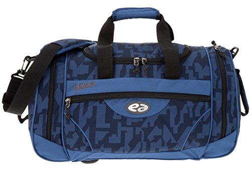 2 Teile SET: YZEA Sporttasche SPORTS by Take it Easy 29016 + Trinkflasche CO2 (WAVE 630 (blau orange)) DEEP 623 (blau-schwarz)