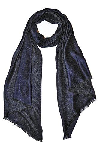 BORDERLINE - écharpe pour hommes en viscose d'hiver - 12A1BX067 Bleu Fonce